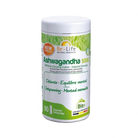 Be-Life - Ashwagandha 5000 Bio 90 gellules