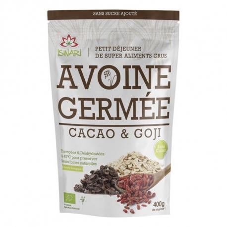 Iswari - Gekiemde Haver Cocoa & Goji 400g