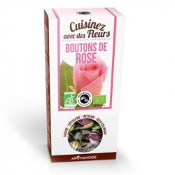 Aromandise - Fleurs à croquer BOUTON ROSE Bio 60G