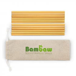 Bambaw - Pack 12 bamboo straws 22cm