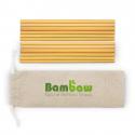 Pack 12 bamboo straws 22cm