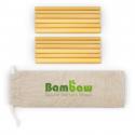 Pack 12 bamboo straws 14cm
