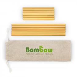 Bambaw - 12 bamboe rietjes MIX (6 rietjes van 14 cm en 6 rietjes van 22 cm)