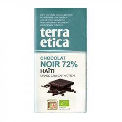 TerraEtica - Dark Chocolate 72% Haïti - Grand Cru Cap Haïti 100 g