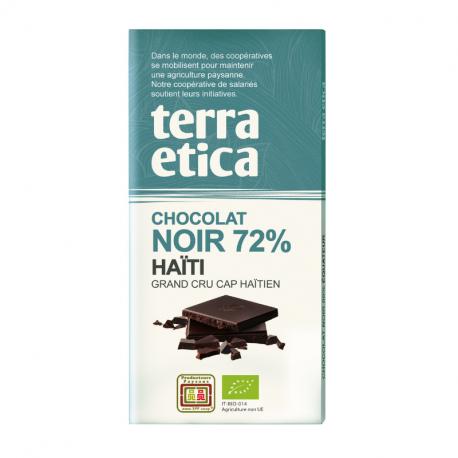 TerraEtica - Chocolat Noir 72% Haïti - Grand Cru Cap Haïtien 100g