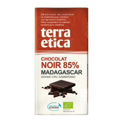 TerraEtica - Chocolat Noir 85% Madagascar - Grand Cru Sambirano 100g