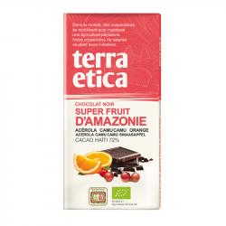 TerraEtica - Chocolat Noir 72% Haïti avec Superfruits d'Amazonie 100g