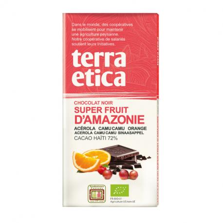 TerraEtica - Dark Chocolate 72% Haïti with Superfruits from Amazonia 100g
