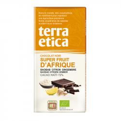 TerraEtica - Chocolat Noir 72% Haïti avec Superfruits d'Afrique 100g