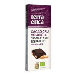 TerraEtica - Chocolat Noir 70% Cacao Cru Cacachuète Equateur 100g