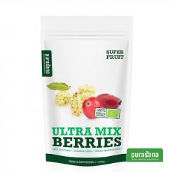 Purasana - Mix BIO Goji/canneberge/mûres blanch. 200g (40% jus pom. concentré)