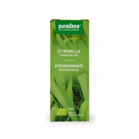 Purasana - Essential Oil of Java Lemongrass Organic 10ml