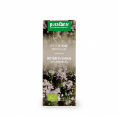 Purasana - Huile Essentielle de Thym thymol (Thym rouge) - Thymus vulgaris L. 10ml Bio
