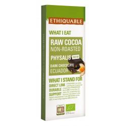 TerraEtica - Chocolat Noir 70% Cacao Cru Physalis Equateur 100g
