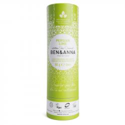 Ben & Anna - Déodorant stick Citron Vert (Tube en Carton) 60g