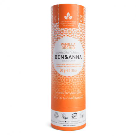 Ben & Anna - Déodorant stick Vanille Orchidée (Tube en Carton) 60g