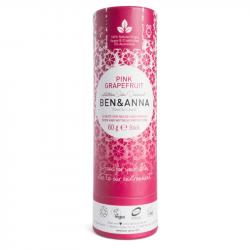 Ben & Anna - Déodorant stick Pamplemousse Rose (Tube en Carton) 60g