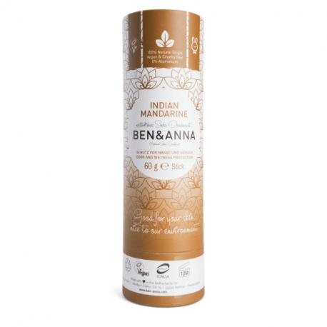 BEN&ANNA - Deodorant Stick Indian Mandarine (Papertube) 60g
