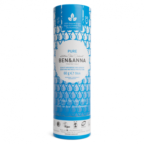 BEN&ANNA - Deodorant Stick PURE (Papertube) 60g
