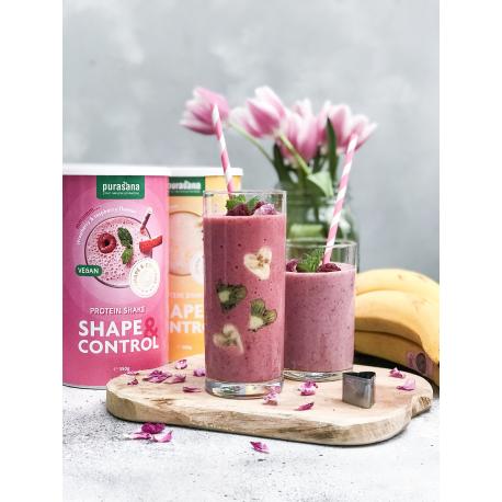 Purasana - Shape & Control Vegan protein shake strawberry/raspberry (63% PROT) 350g