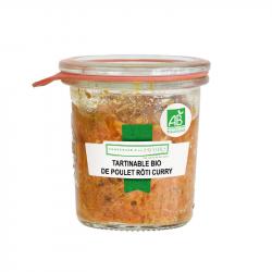 CONSERVERIE DES SAVEURS - Smeerbare kip met kerrie biologisch 100G