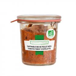 CONSERVERIE DES SAVEURS - Smeerbare kip met tomaten en espelettepeper biologisch 100G