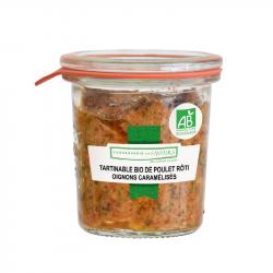 CONSERVERIE DES SAVEURS - Smeerbare kip met gekarameliseerde uien Biologisch 100G