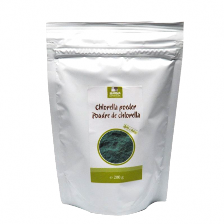 Poudre chlorella (bio et cru) 200g, Marma, Poudres