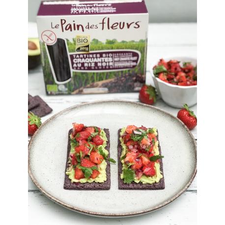 PAIN DES FLEURS : Crackers with Black riz (Organic) 150g