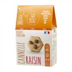 Cinq Sans - Biscuit cannelle raisin Bio 100g