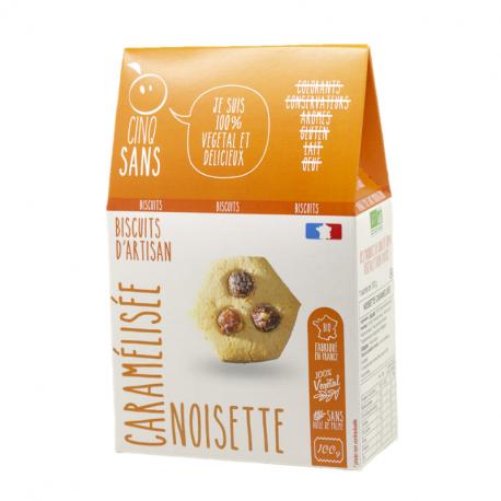 Cinq Sans - Caramelized hazelnut cookies Organic 100g