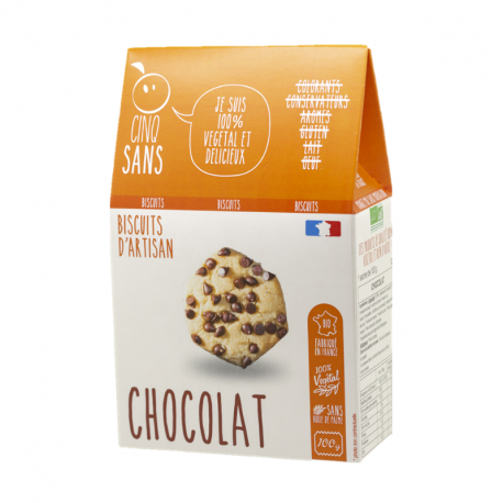 Cinq Sans - Chocolate chip cookies Organic 100g