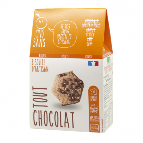 Cinq Sans - Hot chocolate chip cookies Organic 100g