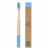 Brosse à dents bambou biodégradable Bleue 1x Bio