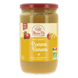 MAMIE BIO - purée pommes - banane sans sucres ajoutés