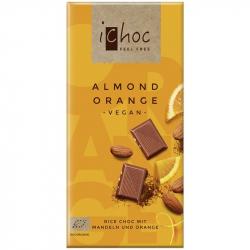 iChoc - Vegan Chocolate Almond Orange Bio 80g