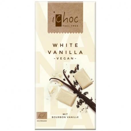 iChoc - Chocolat Blanc Vanille Vegan Bio 80g