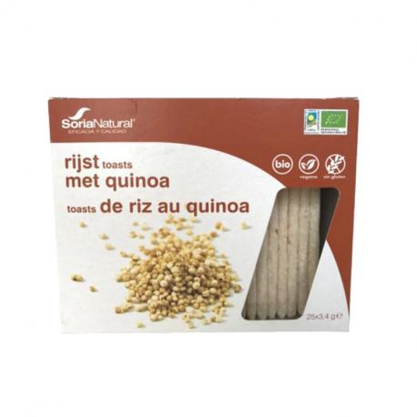 Toast de riz au quinoa (sans gluten et bio) 25x3,4g, SORIA,