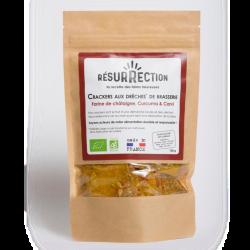 Resurrection - Crackers aux Drêches de Brasserie - Châtaigne, Curcuma & Graines de Carvi 100g