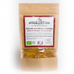 Resurrection - Brewer's Grain Crackers - Chestnut, Curcuma & Caraway Seeds 100g