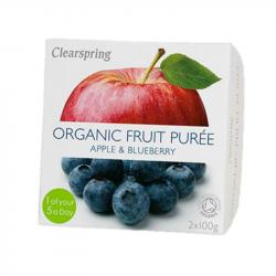 Clearspring - Compote Pomme Myrtille (sans sucre ajouté) BIO 2x100g