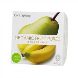 Clearspring - Compote Poire Banane (sans sucre ajouté) BIO 2x100g