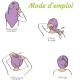 Les Tendances d'Emma - Serviette Cheveux Bambou Ecru