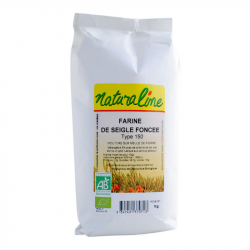 Naturaline - Farine de seigle foncée (extraction 95%) type 150 bio 1kg