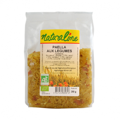 Naturaline - Paëlla aux légumes bio 250g