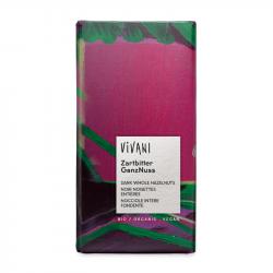 Vivani pure chocolade met hazelnoten 100g,Chocolaatjes