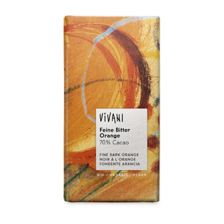 Vivani Chocolat noir orange (70% cacao) 100g, Vivani, Chocolats