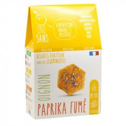 Cinq Sans - Biscuit paprika fumé oignon Bio 100g