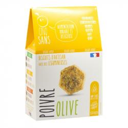 Cinq Sans - Biscuit olives et poivre noir Bio 100g