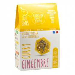 Cinq Sans - Biscuit Curry Gingembre Bio 100g